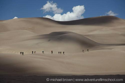 Team on dunes