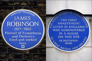 Anaesthesia blue plaques