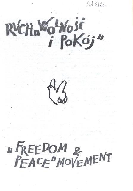 Solidarity Ruch ,,Wolnosc i Pokoj,,, Sol. 212c