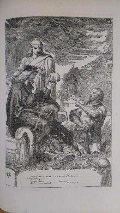 Illustration of the Gravediggers' scene from 'Hamlet'