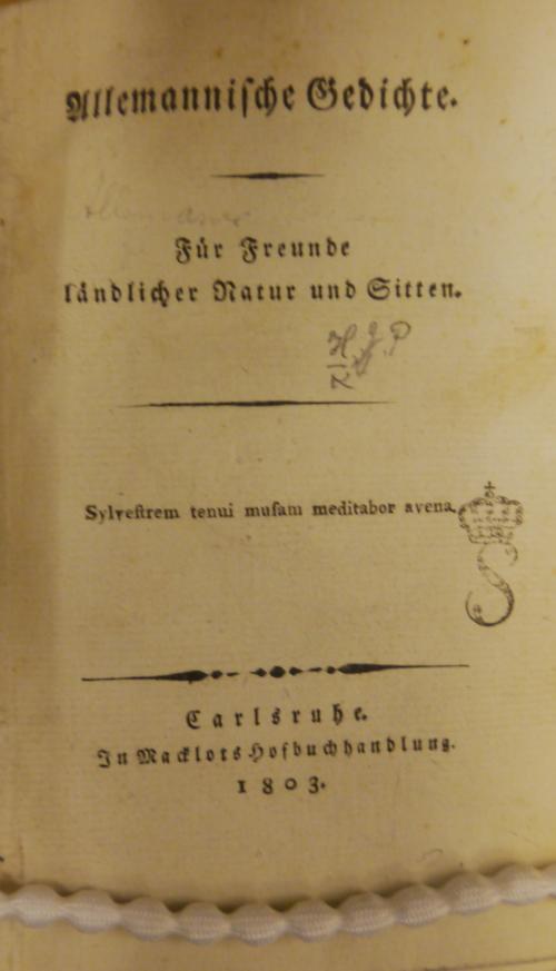 Hebel Alemannische Gedichts 11525.e.18