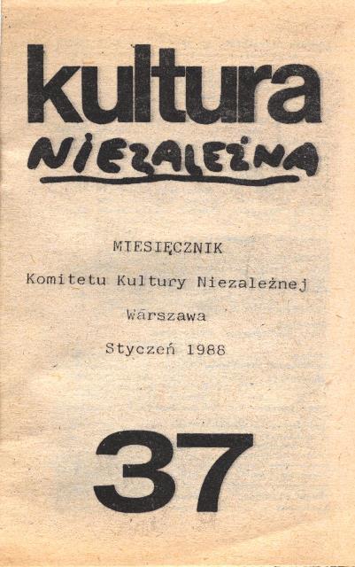 Solidarity Kultura niezalezna 37, Sol 367