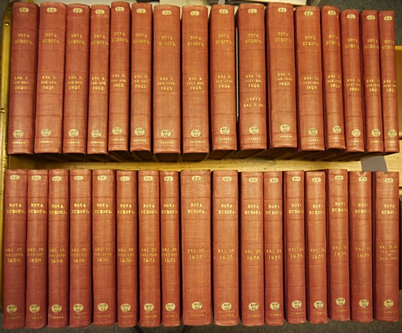 The British Library Collection Of Nova Evropa Acquired In 1951