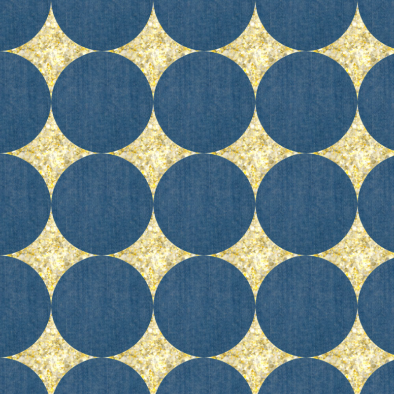 Gold and Jeans Sparkle Dots by Ravynka