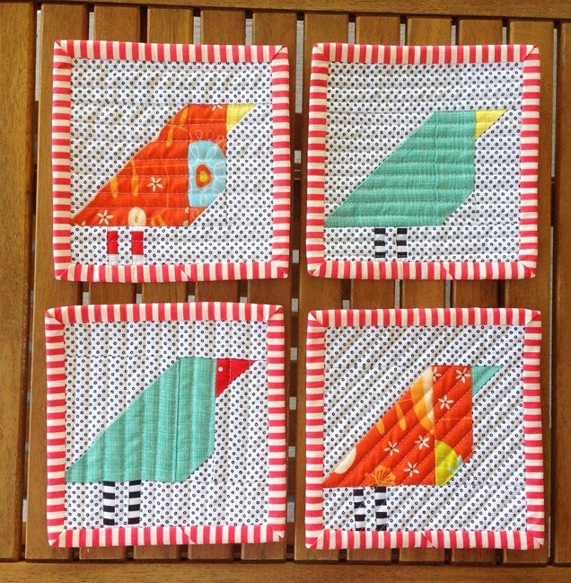 Improv Bird Coasters