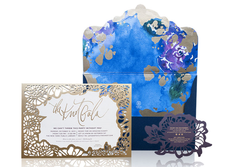 Ceci's intricate invitations for The Knot Gala