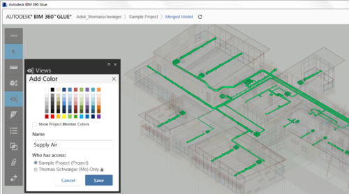 BIM 360 Glue colored view setup