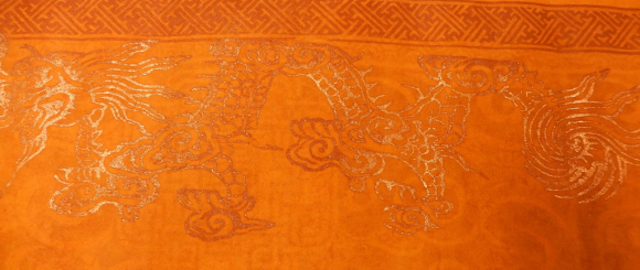 Gilded dragon on the reverse of an Imperial edict of Emperor Khải Đinh, 1924. British Library, Or.14665