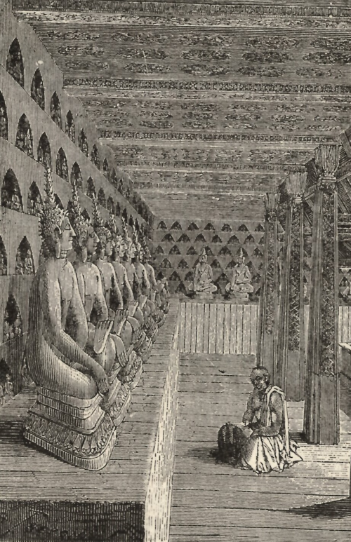 Cloister at Vat Sisaket, Vientiane. From Siam and Laos as seen by our American missionaries (Philadelphia: 1884), p. 277. British Library, 4767.bb.8