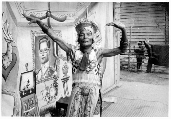 Traditional Norah dance performer in Southern Thailand, late 1960s. British Library, Photo 1213(233)