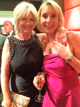 Louise Cooper and me at the charity awards dinner