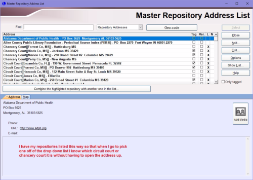 Privacy brackets on repositories