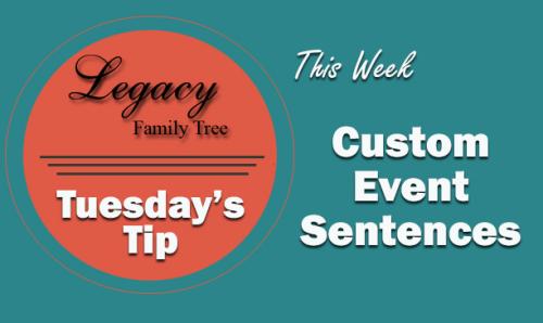 Custom Event Sentences