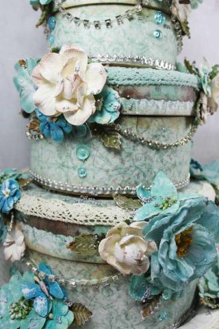 Dove cake close up