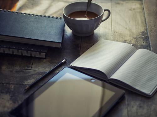 Canva - Diary  Ipad  Write  Blog  Workplace  Chocolate