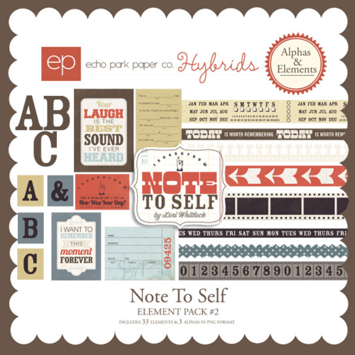 Note to Self Digital Element Pack #2