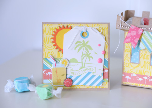 """Paper Sandcastle by Jana Eubank with the """"Summer Party"""" collection by #EchoParkPaper"""