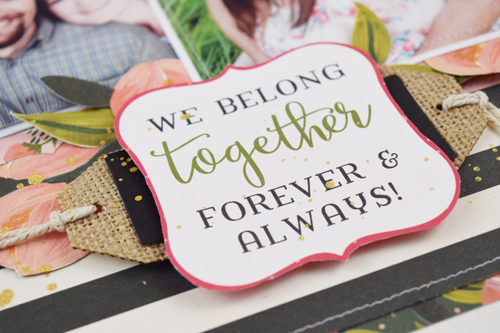 """Together"" scrapbook layout by Becki Adams with the ""Flora No.1"" collection by #CartaBellaPaper"