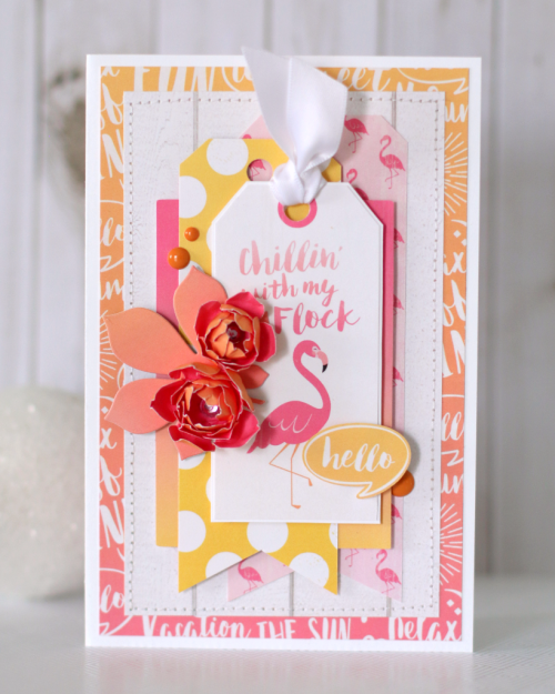 "Card by Anya Lunchenko for #EchoParkPaper with the ""Summer Dreams"" collection"