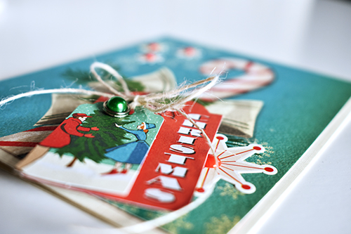 Christmas Card Inspiration Week: Merry Christmas Card by @WendySue for #EchoParkPaper and #CartaBellaPaper