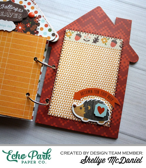 "Happy Harvest Mini Book by Shellye McDaniel with the ""The Story of Fall"" collection by #EchoParkPaper."