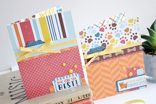 "Card Set by Aly Dosdall featuring the ""Bark"" collection by #EchoParkPaper"