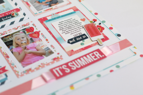 Summer Party layout by Anya Lunchenko for #EchoParkPaper