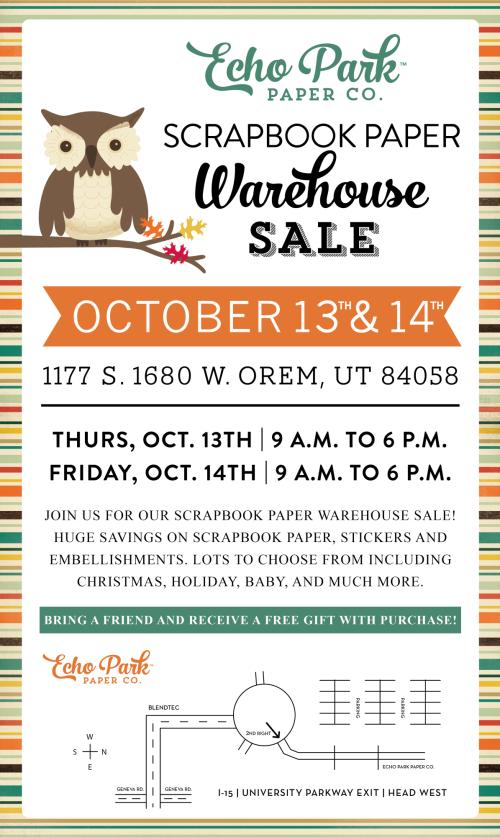 OCT 2016 Echo Park Warehouse Sale