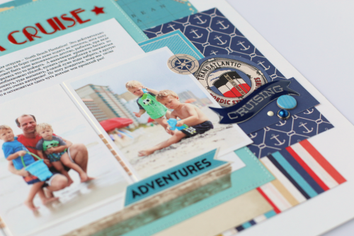 "August Sea Cruise layout by Anya Lunchenko with designer dies and the ""Let's Cruise"" collection by #CartaBellaPaper"