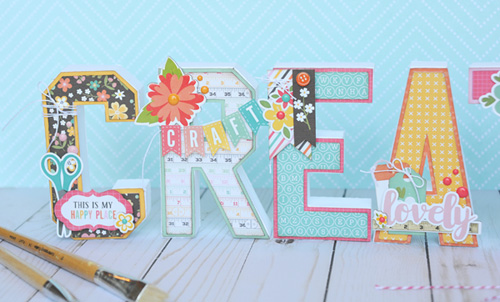 """CREATE decorative letters by Jana Eubank for #EchoParkPaper with the """"I'd Rather Be Crafting"""" collection"""