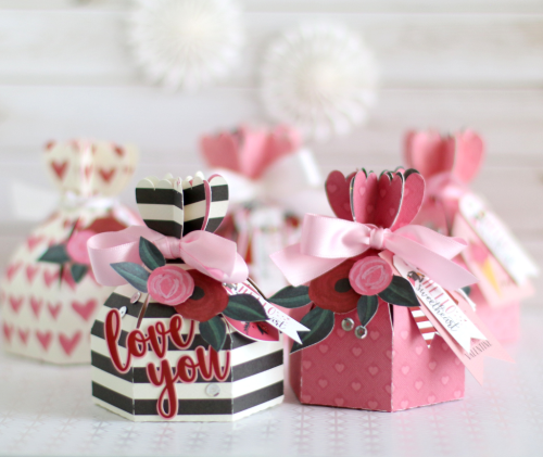 """Valentine's Day treat boxes by Anya Lunchenko with the """"Hello Sweetheart"""" collection from #CartaBellaPaper"""
