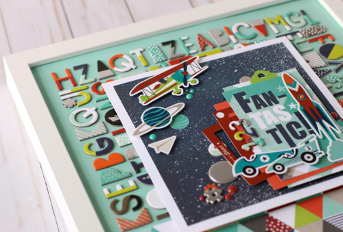 """Framed art by Anya Lunchenko featuring the """"Imagine That Boy"""" collection from #EchoParkPaper"""