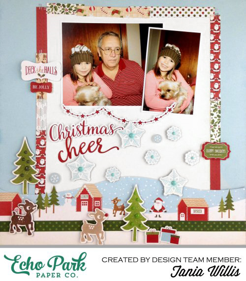 """Christmas Cheer"" layout by Tania Willis with the ""Home for the Holidays"" collection by #EchoParkPaper"