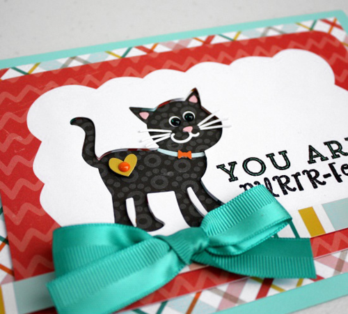"""""""Meow"""" card set by Shellye McDaniel for #EchoParkPaper.  These cards feature designer dies, designer stamps, and enamel dots!"""
