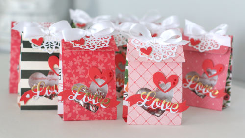 "Tips for making multiple Valentine Treat Bags by Anya Lunchenko featuring the ""Flora No.1"" collection by #CartaBellaPaper"