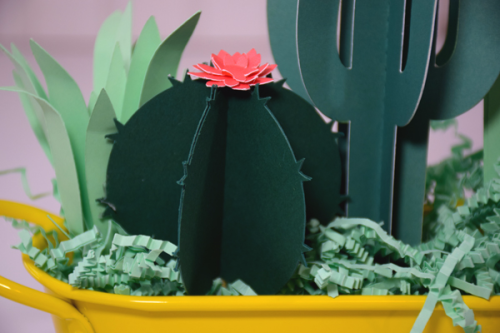 "Celebrating Motherhood with this cactus gift by Tya Smith for #EchoParkPaper with the ""Just Be You"" Collection"