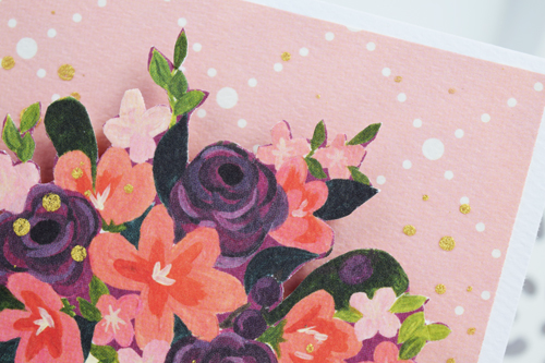 Mother's Day Bouquet Card by Becki Adams for #CartaBellaPaper
