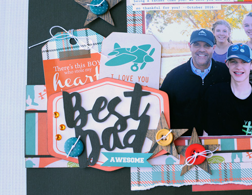 """Best Dad"" Father's Day Layout by Jana Eubank for #EchoParkPaper and #CartaBellaPaper for the ""Week of Celebrating Dad"" Blog Feature"