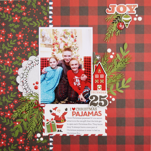 "Christmas Pajamas Layout by Becki Adams for #EchoParkPaper with the ""A Perfect Christmas"" Collection"