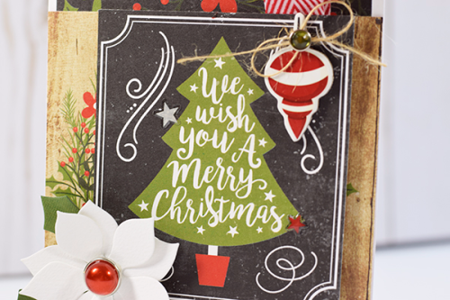 """We Wish You a Merry Christmas Card by Tya Smith with the """"A Perfect Christmas"""" collection by #EchoParkPaper"""