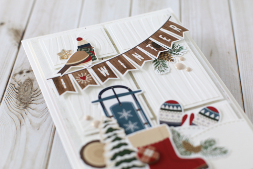 "I *Heart* Winter Banner Card by Anya Lunchenko with the ""Cabin Fever"" collection by #CartaBellaPaper"