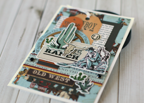 "Masculine card by Anya Lunchenko featuring the ""Cowboy Country"" collection by #CartaBellaPaper"