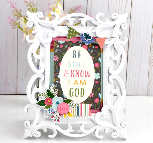 """Be Still And Know"" Frame by Tya Smith for #EchoParkPaper with the ""Have Faith"" Collection"