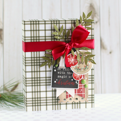 "Christmas Box by Anya Lunchenko featuring the ""Christmas"" Collection by #CartaBellaPaper"