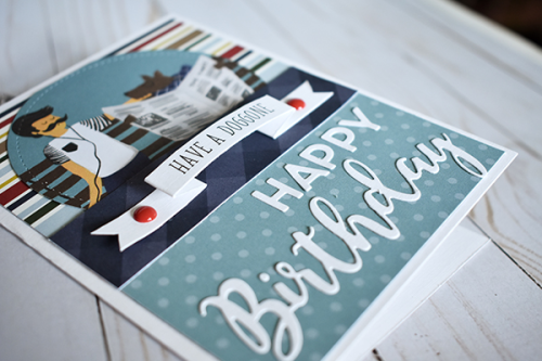 """""""Have a Doggone Happy Birthday"""" Masculine Birthday Cards by Wendy Sue Anderson with the """"A Dog's Tail"""" Collection by #EchoParkPaper"""