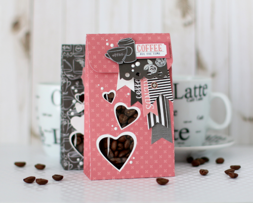 "DIY Coffee Gift Bags by Anya Lunchenko with the ""Coffee"" collection by #EchoParkPaper"