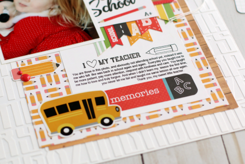 """Back to School"" layout by Anya Lunchenko for #EchoParkPaper"