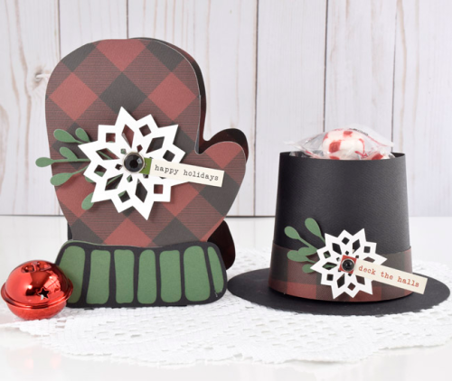 "Christmas or Winter gift set by Tya Smith featuring the ""Tartan No. 2"" Collection by #CartaBellaPaper"
