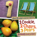 Jane Brocket: 1 Cookie, 2 Chairs, 3 Pears: Numbers Everywhere (Jane Brocket's Clever Concepts)