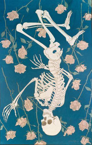 Esqueleto florido